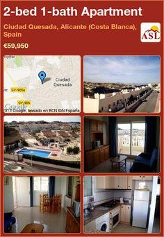 2-bed 1-bath Apartment in Ciudad Quesada, Alicante (Costa Blanca), Spain ►€59,950 #PropertyForSaleInSpain
