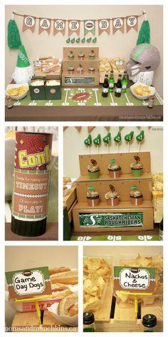Football Party Ideas #CFL #NFL #Football