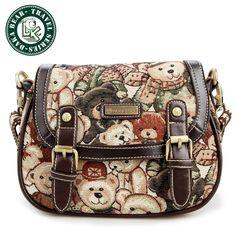 DAKA BEAR Retro Shoulder Messenger Bag Girl Fashion Trendy Bags Daypack