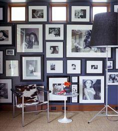 Love the wall of black and whites photos. Jennifer Delonge style guide, via Ohdeedoh