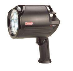 Powerful and reliable, the Coleman Rechargeable LED Spotlight sheds an impressive 530 lumens of light with its super-bright Cree XLamp XR-E LED. The Spotlight provides hours of runtime on a single full charge Camping Gear, Outdoor Camping, Battery Operated Lanterns, Lanterns For Sale, Bright Led Flashlight, Coleman Camping, Led Lantern, Emergency Lighting, Camping Lights