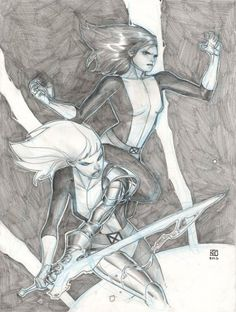 Kitty Pryde and Magik by Khoi Pham