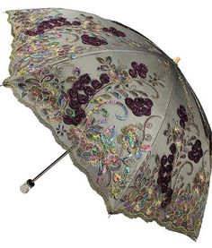 Feature: Can be used all weather,Sun/Rain. Fancy Umbrella, Rain Umbrella, Under My Umbrella, Cool Umbrellas, Umbrellas Parasols, Sun Parasol, Anti Uv, Satin Stitch, Shabby Chic
