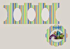 Mini Stand para Cupcakes de Universidad de Monstruos para Imprimir Gratis. | Ideas y material gratis para fiestas y celebraciones Oh My Fiesta!