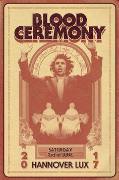 Blood Ceremony gigposter