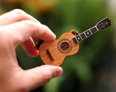 Ukulele Necklace / Brooch by bRainbowshop on Etsy