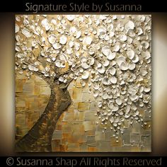 ORIGINAL Large Square Abstract Contemporary by ModernHouseArt, $545.00