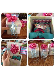 Pregnancy announcement idea: I wanted to make the announcement special for my parents so I used small gift boxes, wrapped the bottom o… Baby Announcement Grandparents, Pregnancy Announcement To Parents, Baby Announcements, Small Gift Boxes, Small Gifts, Surprise Pregnancy, Pregnancy Test, Baby On The Way, Rainbow Baby