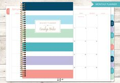 2017 planner 12 month calendar add monthly tabs weekly student