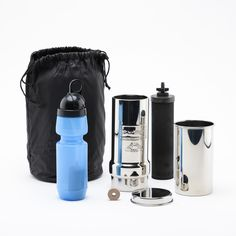 Go Berkey Kit - True Off the Grid Water Purifier Just 18 inches high when set up, small enough to fit in a suit case. Perfect for traveling, work, or office.