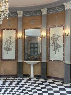 Salle à manger du château de #Malmaison Charles Percier (1764-1838)…