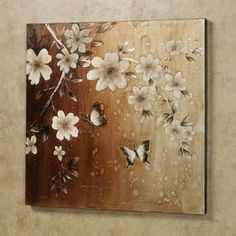 Midday Sun Butterfly Floral Canvas Wall Art