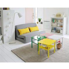 Petits espaces et astuces d co sur pinterest bureaux - Table basse coloree ...