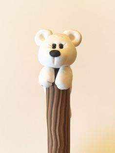 White Bear Ballpoint Pen by handmademom on Etsy