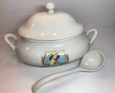 74294956bc7ef4 1976 Nabisco Premium Cracker 100th Anniversary Soup Tureen with Ladle