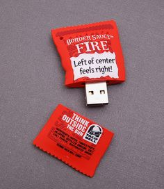 Taco Bell Hot Sauce USB Flash Drive stuff, tacos, taco bell, usb drive, bells, usb flash drive, flashdrive, thing, hot sauces