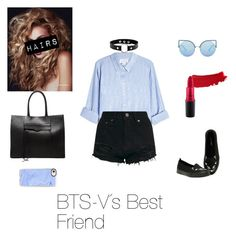"""BTS- V´s BF inspiration"" by zucca0 on Polyvore featuring Mode, Velvet, Hot Topic, Rebecca Minkoff, Matthew Williamson, Casetify, MAC Cosmetics, bts und taehyung"