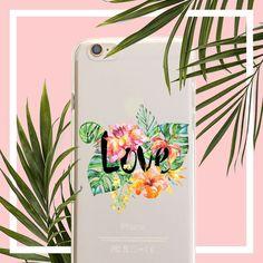 Tropical Love Clear TPU Case Cover
