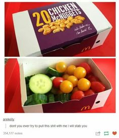 I've seen parents do this to their kids in their school lunch boxes. Funny for adults...not for kids, ha ha.
