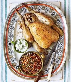Lebanese Roast Chicken: Stuffed with rice, lamb, and cinnamon.