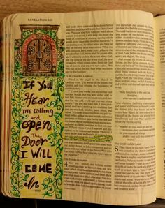 Bible art Journaling  Revelation 3;20 Deli paper, sraedtler fineliner pens, matte medium