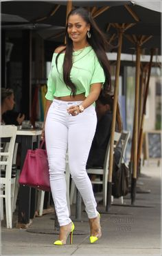 7b3f78e14c Get the Look for Less  Lala Anthony in Rocking Brights in West Hollywood