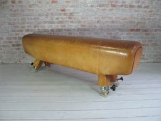 Old gym horse turned into a bench. Love. Want.
