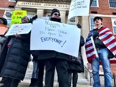 Protesters bar Besty DeVos from entering DC school.