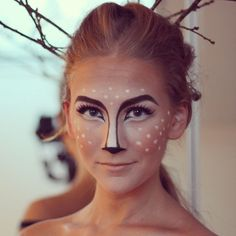 maquillage, halloween, chevreuil