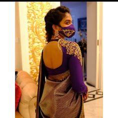 Wedding Saree Blouse Designs, Half Saree Designs, Silk Saree Blouse Designs, Blouse Designs Silk, Kurti Designs Party Wear, Sari Blouse, Latest Blouse Patterns, Lehenga Saree Design, Stylish Blouse Design
