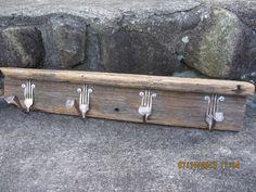 Handmade rustic  reclaimed wood forks utensils by peddlersfinds, $14.99