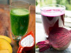"""Misturar frutas e verduras em combinações potentes para turbinar o metabolismo e emagrecer virou mania. O popular suco-verde, à base de couve e folhas verdes escuras, ganhou a confiança de especialistas e o paladar das famosas.   Mas uma nova combinação cor-de-rosa, que é febre na Europa, desembarcou no Brasil recentemente e promete tomar o posto de """"queridinho"""" do suco verde. A dúvida é: qual deles tomar?"""