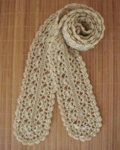 crochet cute scarf, crochet pattern -- free chart cant find the chart, but love the scarf going to guess at it . bet I can get something close, looks simple enough Knit Or Crochet, Crochet Scarves, Crochet Shawl, Crochet Clothes, Crochet Stitches, Free Crochet, Tricot Simple, Crochet Capas, Cute Scarfs