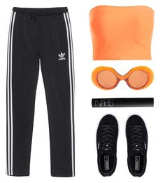 """Sporty spice"" by baludna ❤ liked on Polyvore featuring adidas Originals, The Row, Puma and NARS Cosmetics"