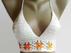 ivory crochet halter tank top Festival halter top beach cover up, boho bohemian summer top gypsy coachella top senoAccessory Perfect with shorts & jeans & skirt and night out on the town. a summertime tradition! sexy to fun and fabulous ;) Adjustable ties on the neck and back. %100 COTTON YARN !!!!!!! High quality Alize yarn !!!!!!!!!!!!!! hypoallergenic yarn !!!!! we made all sizes !!!! ( 2 or 3 days ) Sizes available: XS, S, M, L ,XL Please dont forget list your sizes !!!! US or ...