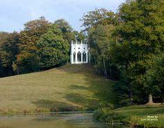 the gothic temple, painshill park, cobham, surrey