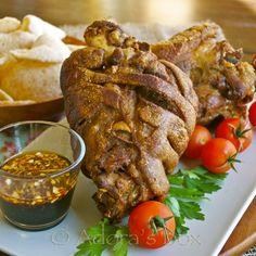 Crispy pata (crispy fried pork shank).