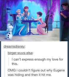 Hahaha Tangled and Frozen.