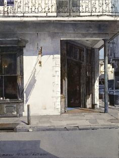 "Dean Mitchell - ""French Quarter Corner"", watercolor"