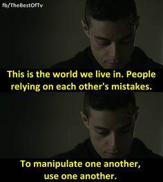 - Rami Malek in Mr. Robot.(Season 1)