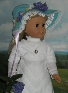 Enchanting Kate Grenaway Regency outfit for American Gitl dolls by Sugarloaf.... <3  at http://www.etsy.com/listing/73872336/1830s-kate-greenaway-look-for-18-dolls