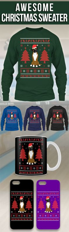 Boxer Ugly Christmas Sweater! Click The Image To Buy It Now or Tag Someone You Want To Buy This For. #boxer