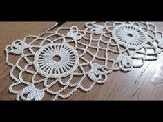 Crochet knit lace motif making, showcase lace, tablecloth, runner - Crochet Crochet Motif Patterns, Crochet Squares, Crochet Granny, Crochet Doilies, Crochet Flowers, Crochet Lace, Crochet Videos, Lace Knitting, Crochet Earrings