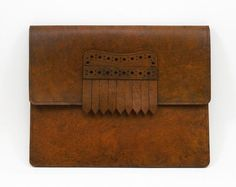 The Kilt Flap Leather iPad 2 Case in Antique Tan