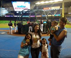 Shaila and family at the Miami Marlins game