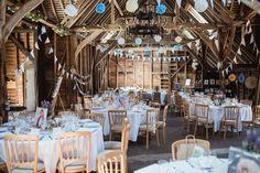 Herons Farm Bunting Pom Poms English Country Farm Barn Home Made Wedding http://www.angelawardbrown.com/