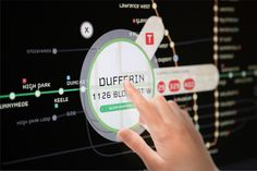 Interactive Rapid Transit Map for Toronto by Christian Steffan, via Behance
