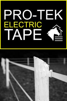 "The Pro-Tek 1.5"" electric tape fence is highly-visible and is currently available in white, black, or brown. The 15 stainless steel wires will help keep your horse(s) safe and your fence working properly past the 20-Year Limited Warranty. #rammfence #horsefencing #protektape #horses #ramm #electricfence"