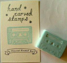 Cassete rubber stamp