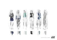 Fashion Sketchbook - fashion design board for H&M project - fashion sketches; collection lineup; fashion portfolio // Alexandra Baldwin